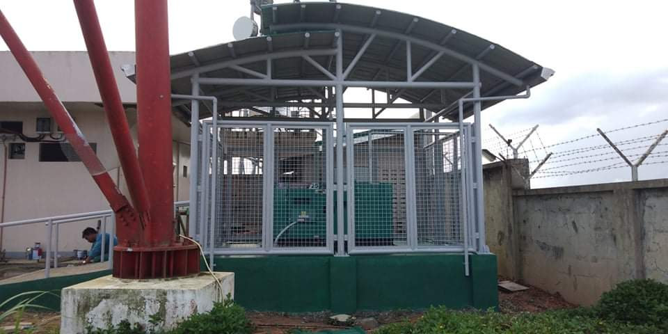 Our supply of 25 KVA generator set and construction of steel shelter for NGCP Iloilo, Philippines
