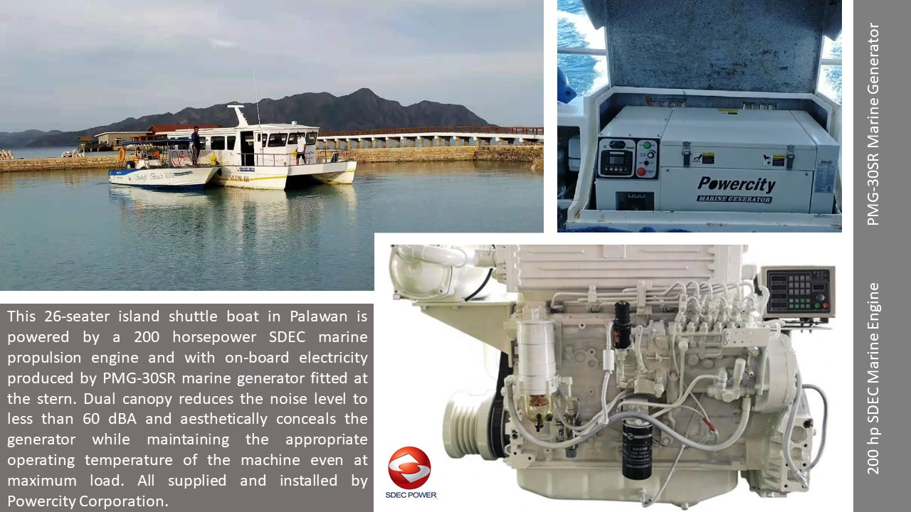 A typical marine genset by Powercity.